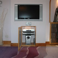 Inset TV and surround sound