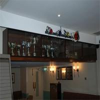 Suspended trophy cabinet