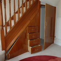 Under stair cupboard and draws